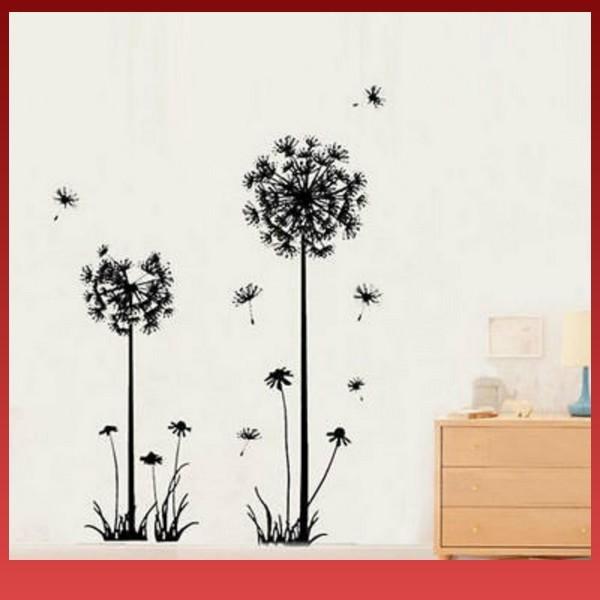 Jual Gbm Dengan Bahan Stiker Dinding Vinyl Gambar Bunga Dandelion