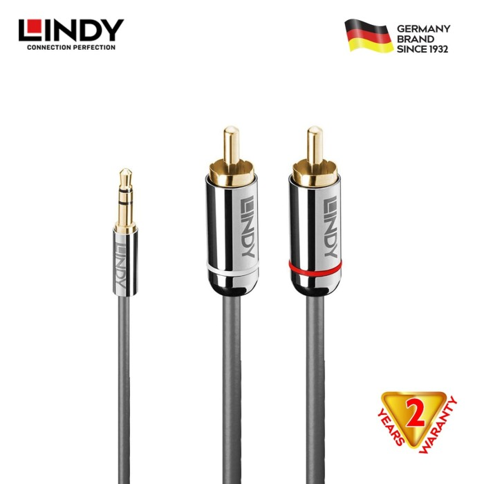 Foto Produk LINDY #35334 Cromo 3.5mm to Phono Audio Cable,2m dari LINDY INDONESIA