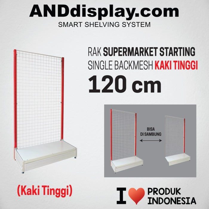 Foto Produk RAK SUPERMARKET 120 KTINGGI START SINGLE BACKMESH GONDOLA ANDDISPLAY dari SINAR KARYA RAKINDO