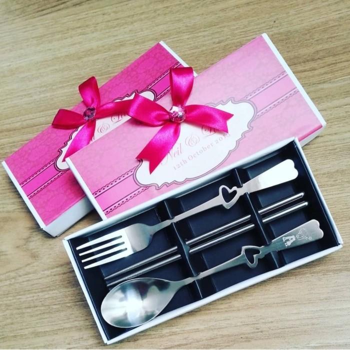 Foto Produk Souvenir Couple Set Spoon Fork u/wedding,ultah,dll dari Hello Maddie