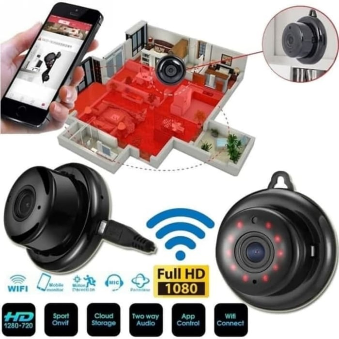 Foto Produk IP KAMERA CCTV Wireles Ip Mini Camera Wifi Smart Net Cam Aplikasi V380 dari MMPCCTV