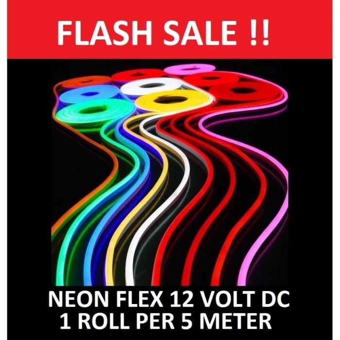 Foto Produk Lampu Neon Flex LED selang 12V DC neonflex 12 v volt sign 12volt 5M - WARM WHITE dari AgenLED