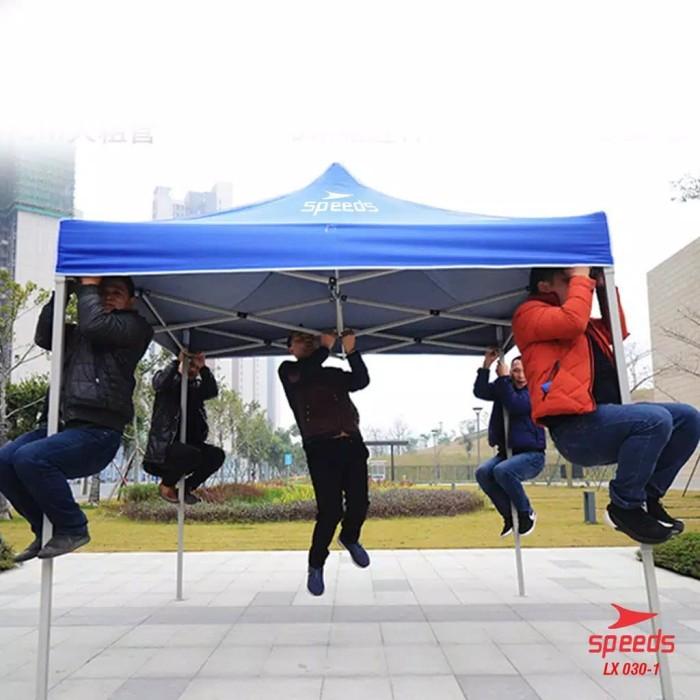 Foto Produk Tenda Lipat 3x3m 18kg 0.6mm Jualan Bazar Pameran Gazebo Kotak Dagang S - Merah dari jagoans sport & music