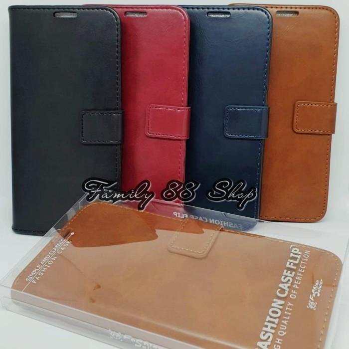 Foto Produk Flip cover Samsung M10, M20, M30 Flip Case Fs kulit Magnet / FLIP CASE - Hitam, SAMSUNG M10 dari Family88shop