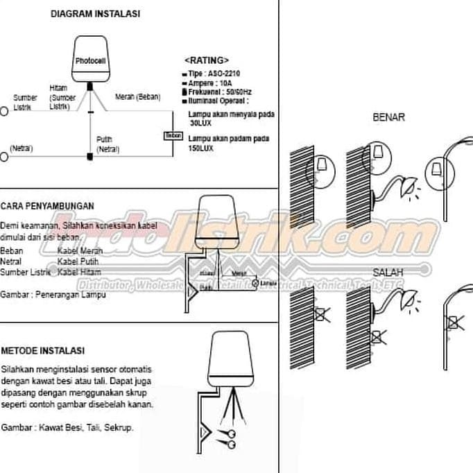 Jual Photocell 10a Aso 2210 Bulat Tab Fotosel Sensor Cahaya Jakarta Barat Vilsastore06 Tokopedia