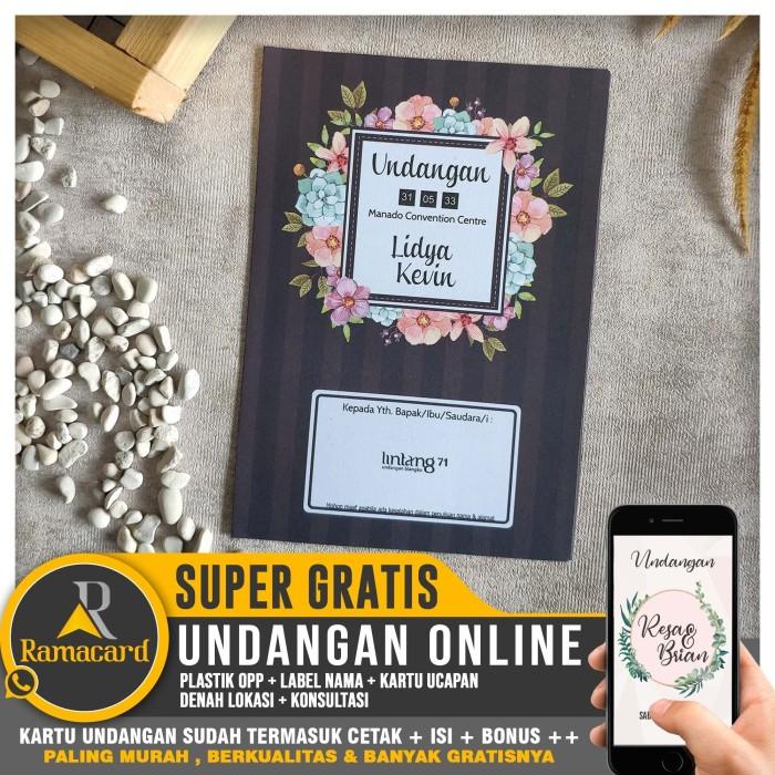 Jual Kartu Undangan Pernikahan Cetak Termurah Dan Full Bonus Lg 71 Kota Yogyakarta Ramacard Tokopedia