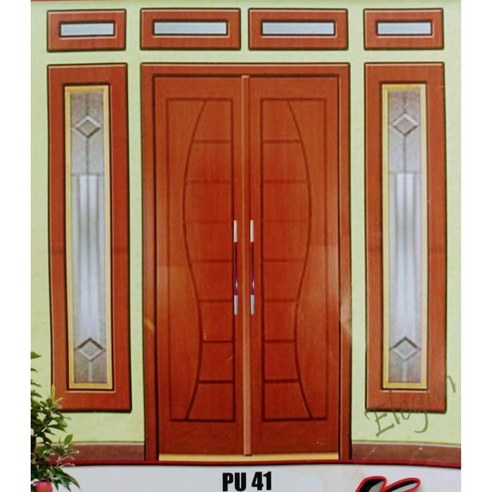 jual set kusen pintu utama daun pintu minimalis s double swing berkualita jakarta utara fitri syafiaa tokopedia tokopedia