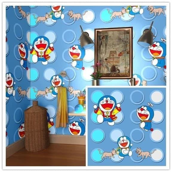 Jual wallpaper sticker dinding kamar anak Doraemon ...