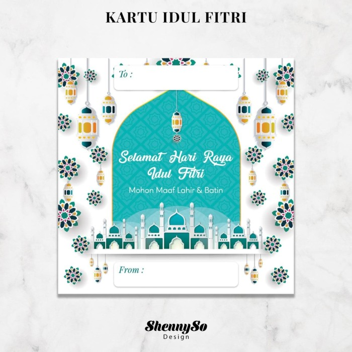 Desain Contoh Kartu Ucapan Hari Raya Idul Fitri - kartu ...