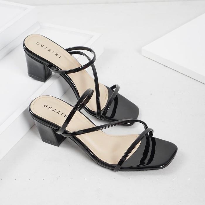Foto Produk Guzzini ND 753 Hitam - Sandal Block Heels Casual dari Guzzini