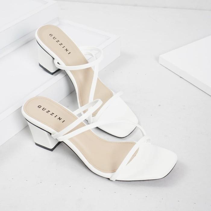 Foto Produk Guzzini ND 753 Putih - Sandal Block Heels Wanita dari Guzzini