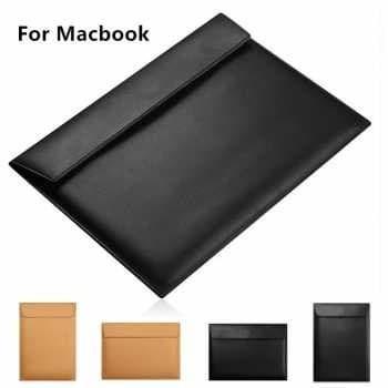 Foto Produk tas sleeve PU leather macbook new air 13 pro notebook horizontal tipis dari luxer
