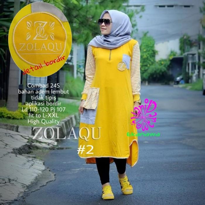 Foto Produk Baju Atasan Wanita Blouse Muslim Zolaqu #2 Tunik Eknw dari myfashion