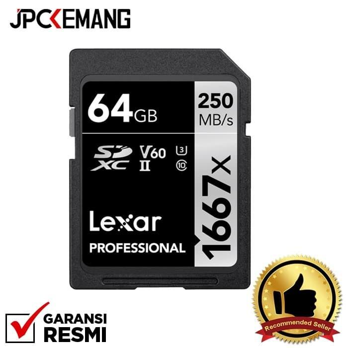 Foto Produk Lexar 64GB Professional 1667x UHS-II SDXC Memory Card GARANSI RESMI dari JPCKemang