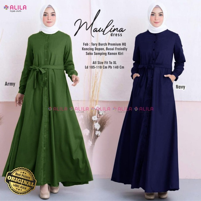 Foto Produk MAULINA DRESS CANTIK / SIZE JUMBO LD 105-110 PB 140 / Ori by Alila dari Reyna Dress