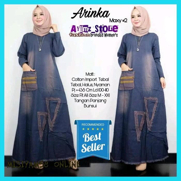 Jual Diskon Maxi Dress Wanita Muslimah Gamis Jeans Levis Busana Muslim Baju Jakarta Utara Misiyam58 Online Tokopedia