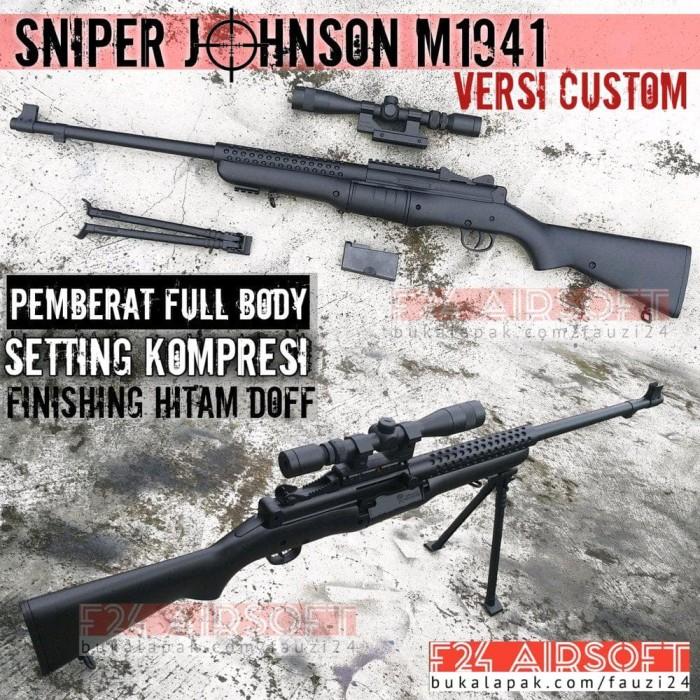 Jual Terpopuler Airsoft Gun Spring Sniper Johnson Versi Custom Murah Jakarta Selatan Puspa Candrakanti1 Tokopedia