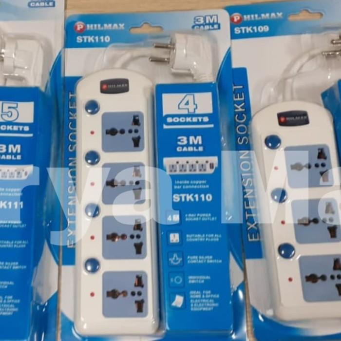 Foto Produk stop kontak extension 4 lubang switch + kabel 3 m Stopkontak universal dari Surya Mas Jakarta
