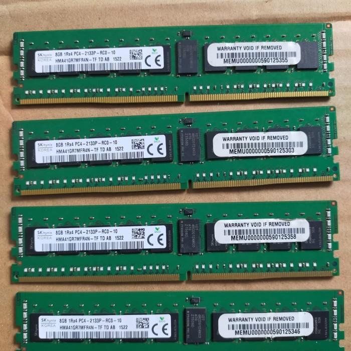 HYNIX HMA41GR7MFR4N-TF 8GB 1Rx4 DDR4 PC4-17000 2133P ECC REGISTERED MEMORY RAM