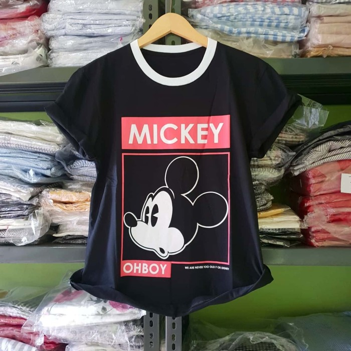 Foto Produk KODE : XL.025 Mickey Boy Tshirt (XL) - Hitam dari fashion_tnabang