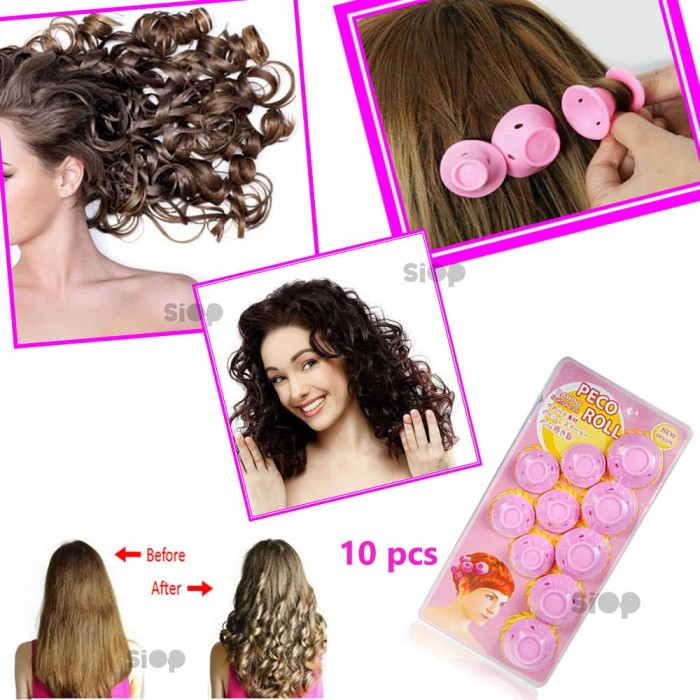 Foto Produk PECO Roll Hair Curlers Roller Curler Styling- Alat Curly Rambut dari SIOP Variety Stores