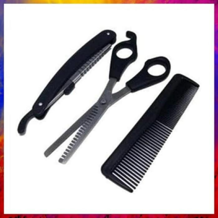 Foto Produk promo paket alat cukur gunting sasak sisir kerokan rambut murah dari Adam K Store