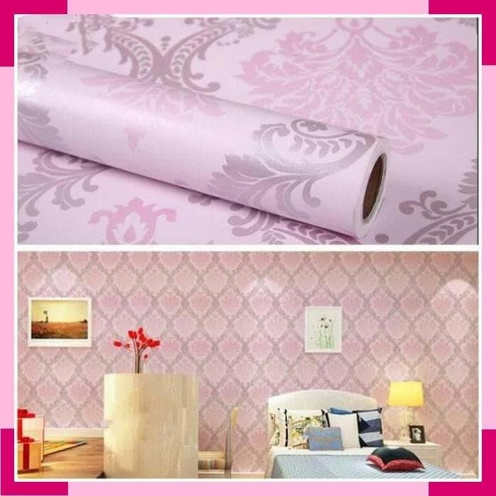 Jual Wallpaper Dinding Ruang Tamu Rumah Kamar Tidur Batik Pink Silver Jakarta Selatan Lois Xu Tokopedia