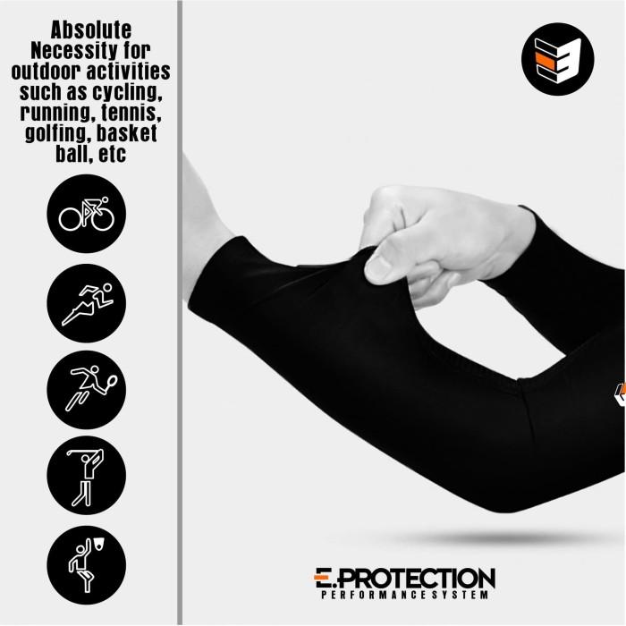 Foto Produk manset sepeda / arm warmer / riding sunscreen - Hitam, S dari eibag-indonesia