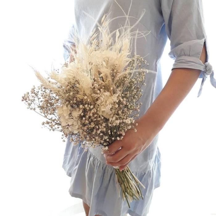 Jual White Flower Wedding Bouquet Buket Bunga Pernikahan Kab Sleman Jefe Flower Gift Tokopedia