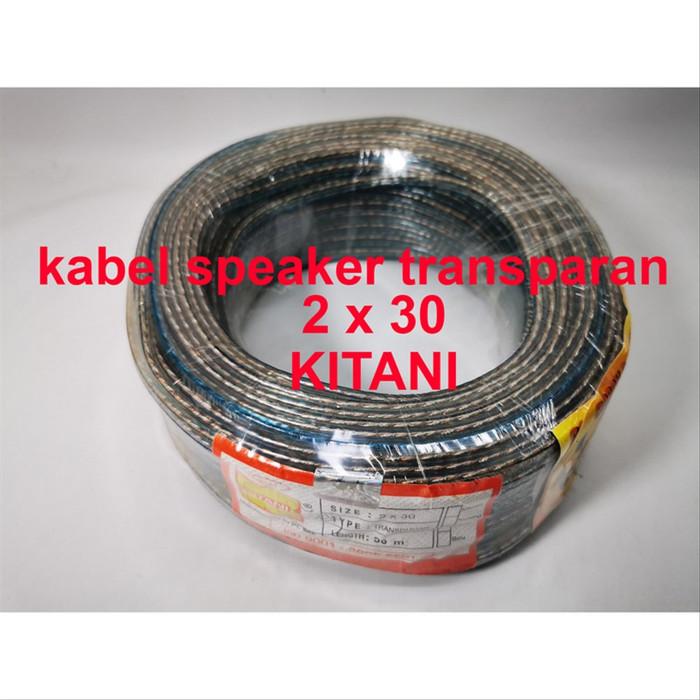Foto Produk Global Kabel Speaker Transparan 2x30 Kitani 50 Meter tembaga murni dari NAYLIL STORE99