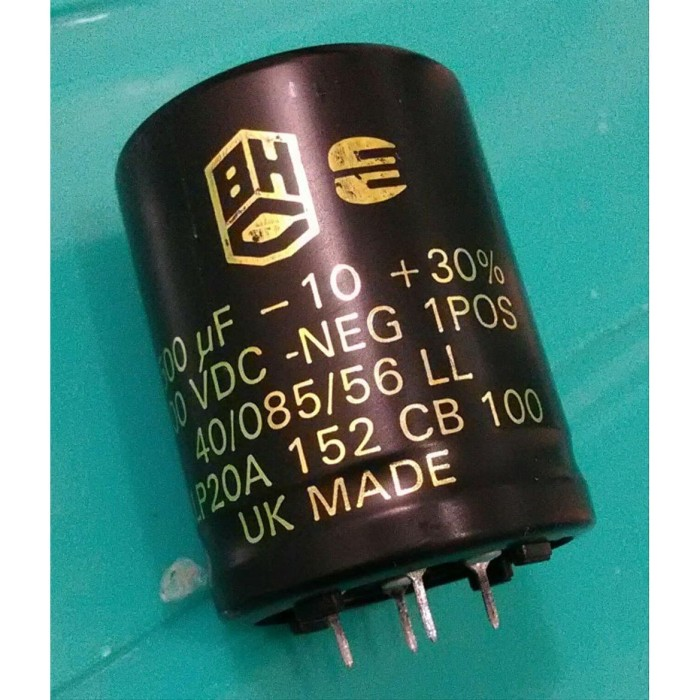 Foto Produk ELCO 1500uF 100V 105C BHC ALP20A CAPACITOR UK MADE SNAP IN 35x45MM dari NAYLIL STORE99