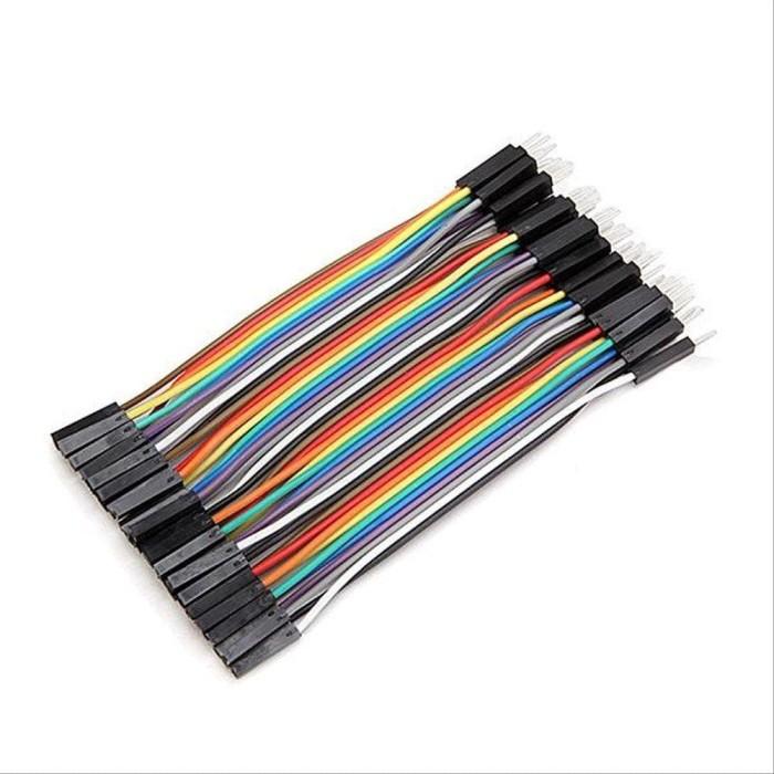 Foto Produk Komponen Elektonik 40pcs 10cm Male To Female Jumper Cable Dupont Wire dari NAYLIL STORE99