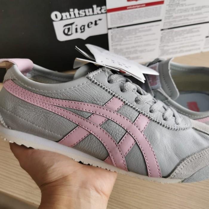 Sepatu Asics OnitSuka Tiger Grey Pink