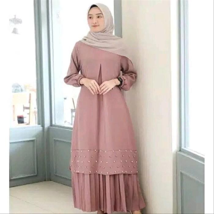 Jual Baju Gamis Wanita Muslim Kombinasi Brokat Tile Dress Fashion Syar Jakarta Barat Jaka Taruk Tokopedia