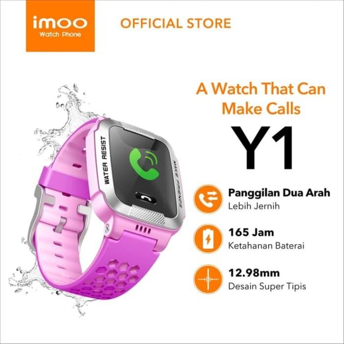 Foto Produk imoo Y1 Watch Phone Ungu-Jam Anak Pintar Waterproof Garansi Res dari fifikumalastore2020