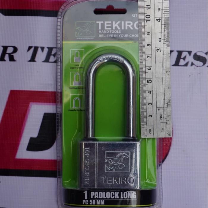 Foto Produk TEKIRO GEMBOK 50MM PANJANG ORIGINAL 50 MM LEHER PANJANG dari JABAR TEKNIK