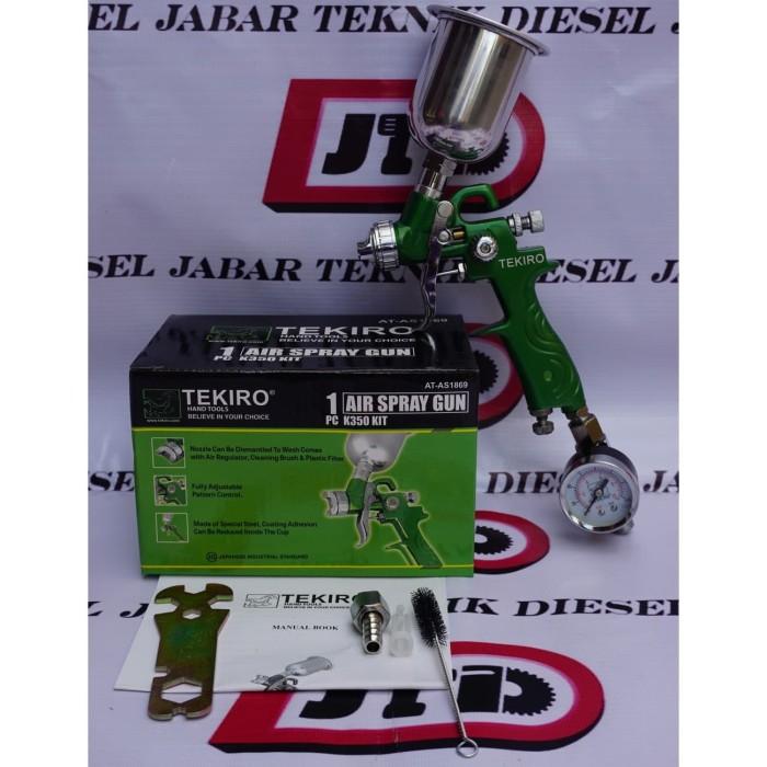 Foto Produk TEKIRO K350 Mini HVLP 0.8mm Spray gun REGULATOR Premium ORIGINAL dari JABAR TEKNIK