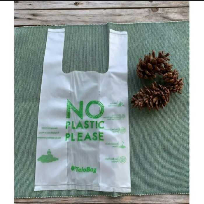 Foto Produk plastik singkong ramah lingkungan /telobag uk 17 / compostable plastic dari micinlin