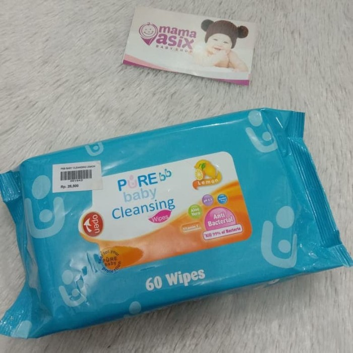 Foto Produk Pure Baby Cleansing Wipes - Tisu Basah Bayi - Cleansing Wipes - Tisu dari Mama Asix Baby Shop