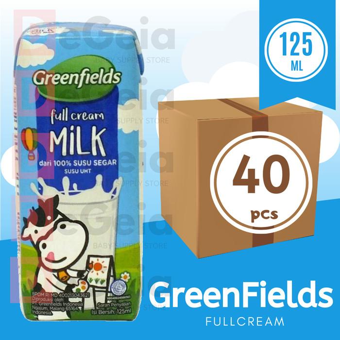 Foto Produk Greenfields UHT FullCream 125 mL - Satu Karton [40pcs] dari DeGeia