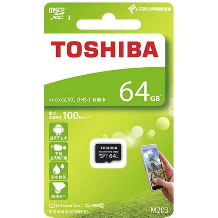 Foto Produk Memory Card Toshiba 64GB MMC 64 GB/ Micro sd dari Raja Aksesoris Grosir