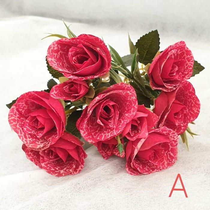 Jual Mawar 7 Kuntum 3 Kuntum Kecil Bunga Artificial Dekorasi