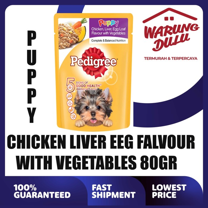 Jual Pedigree Pouch Puppy Chicken Liver 80gr Ekspedisi Jakarta Utara Warung Dulu Tokopedia