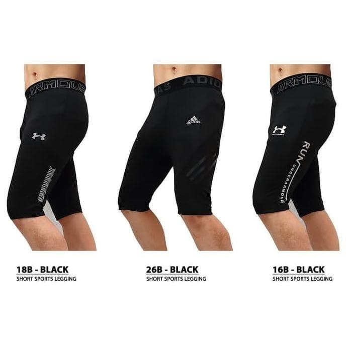 Jual Premium Celana Legging Sport Pendek Cowok Pria Gym Fitness Olahraga Se Jakarta Barat Chandani6 Store Tokopedia
