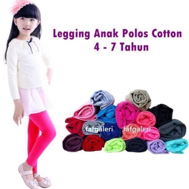 Jual Legging Anak Polos 4 7 Tahun Grosir Celana Legging Anak Jakarta Barat Swa Store Tokopedia