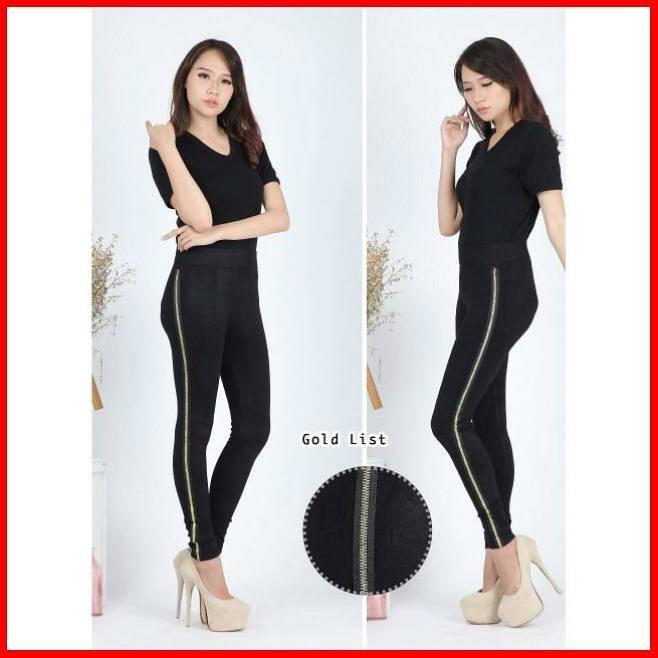 Jual Jeans Celana Legging List Sleting Spandex Import Jakarta Barat Meliastory Tokopedia