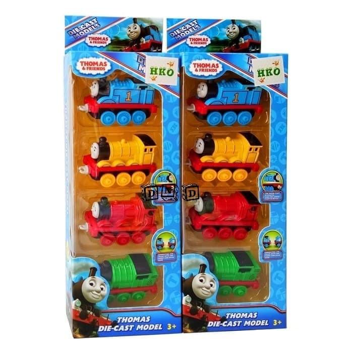 Foto Produk Mainan Anak Diecast Set Mobil Kereta Thomas and Friends isi 4 pcs 310 dari Toko DnD