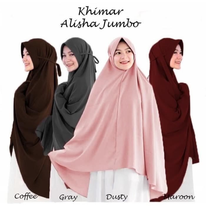 Jual Jilbab Hijab Kerudung Bergo Tali Instan Khimar Alisha Syari Jumbo Kota Bandung Hijabafwa Tokopedia