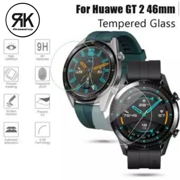 Foto Produk Tempered glass Huawei Watch GT2 46mm anti gores screen guard kaca dari Multi Store 12