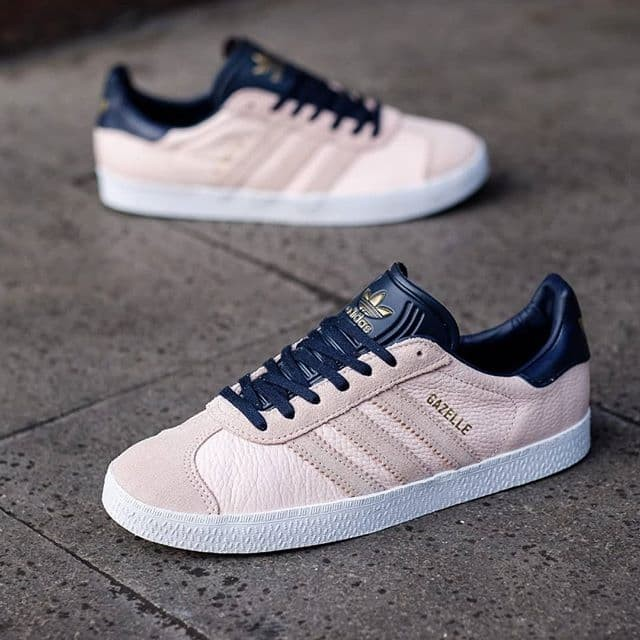Adidas Gazelle Women Peach Navy Gold